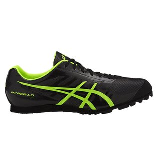 Asics HYPER LD 5 Men Spikes Black Safety Yellow