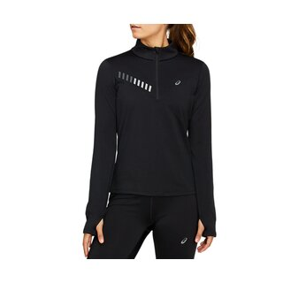 Asics LITE-SHOW WINTER 1/2 ZIP TOP Women Farbe: Performace Black / Graphite Grey