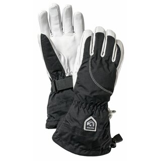 HESTRA Heli Ski Female - 5 finger Black/Off White